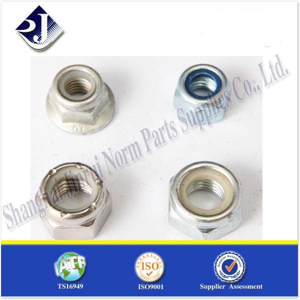 DIN985 nylon NUTS GR8 plated TS16949 ISO9001