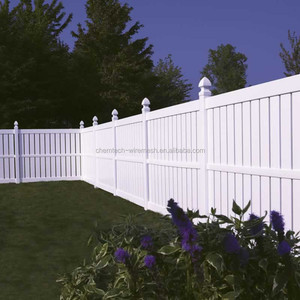 PVC used vinyl plastic privacy pickets fence for sale