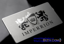 High quality expensive OEM Metal Business name memership embossed Cards with etching logo