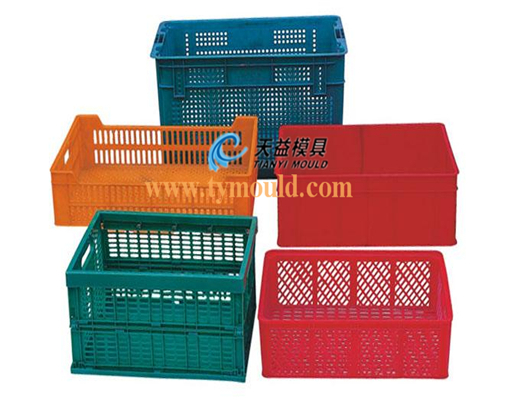 Widely used industrial/household plastic injection turnover crate mould