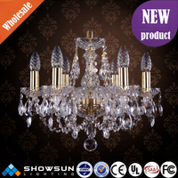 Indian style 6 lights golden bohemia chandelier crystal