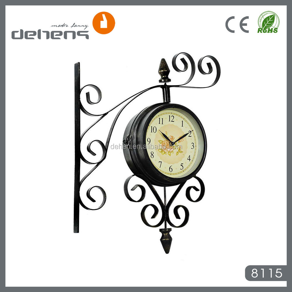 antique outdoor double sided wall clocks for home and garden