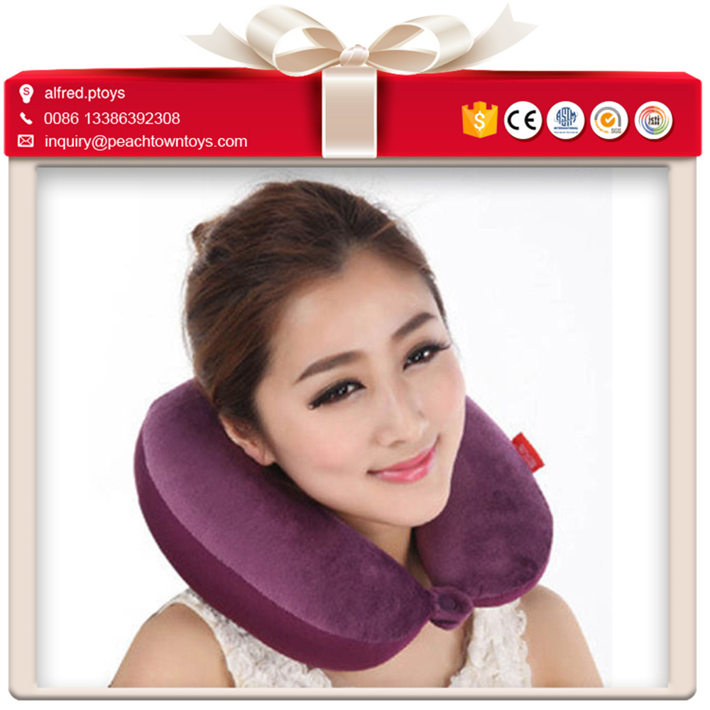 <strong>U</strong> shape soft neck support cusotm travel neck pillow