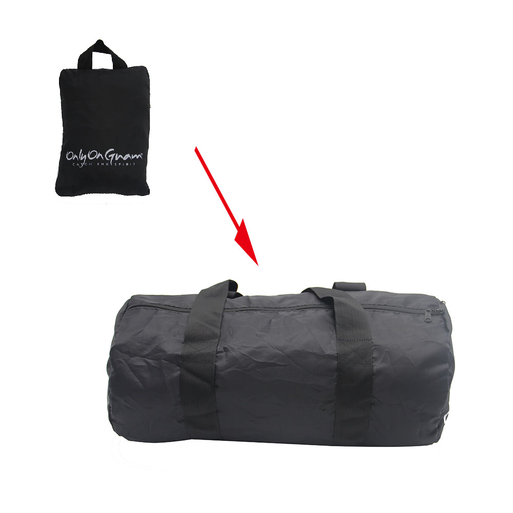 Custom Black Portable Lightweight Folding Travel Bags Leisure Waterproof Duffle Foldable Bag for Sports