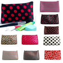 Wholesale multicolors makeup promotional travel custom nylon cosmetic bag