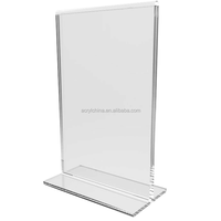 2015 Clear Acrylic Table Tent Frame photo sign menu holder