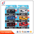 Hot sale kids free wheel alloy toy diecast model car with 6 styles