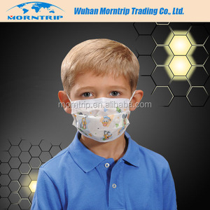 New Product Disposable Non-woven Fashion Medical Surgical Face Mask With Cartoon Printed Design Kid Haze Pollution Pollen