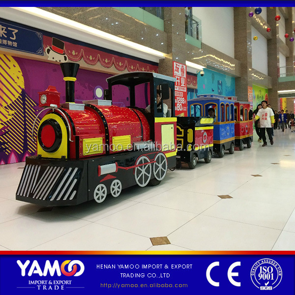 Amusement park / Shopping mall / Shopping center electric trackless train ride for sale