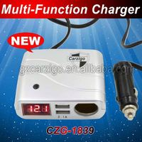 ternate USB ports china alibaba supplier with integrity 5v 4.2A output motorcycle accessories 3 in 1 car charger