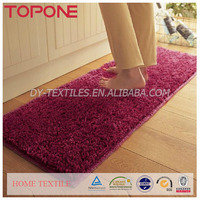 Fashion high quality oem superfine fiber carbonization anti-skid colorful shaggy carpet