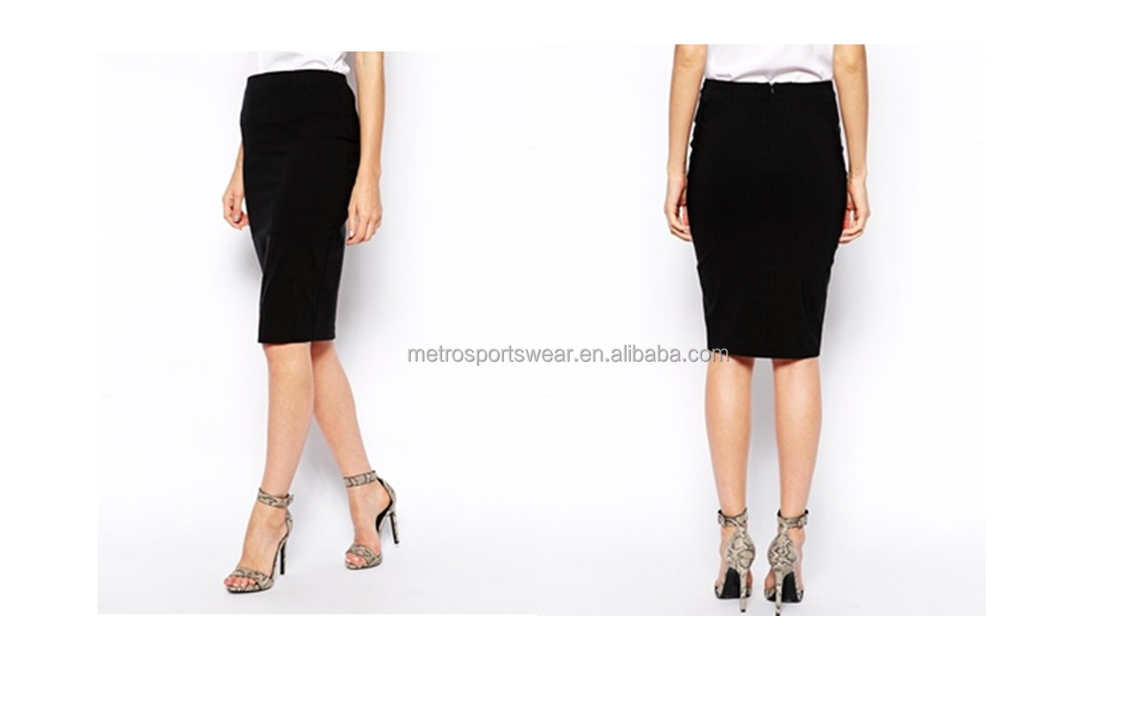 Women High Waisted Pencil Skirt for Office Lady