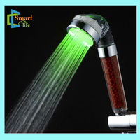 C-158-1LED negative ion spa automatic temperature controlled shower head
