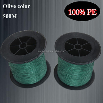 500M/1000M/spool Olive green color PE braided fishing line