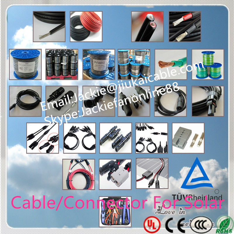 TUV certificated 2.5mm2/4.0mm2/6.0mm2 mc3 mc4 solar pv connector cable 2.5mm vacuum solar collector