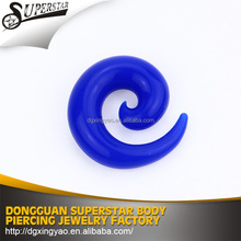 High quality hot sale silicon spiral taper ear piercing expander