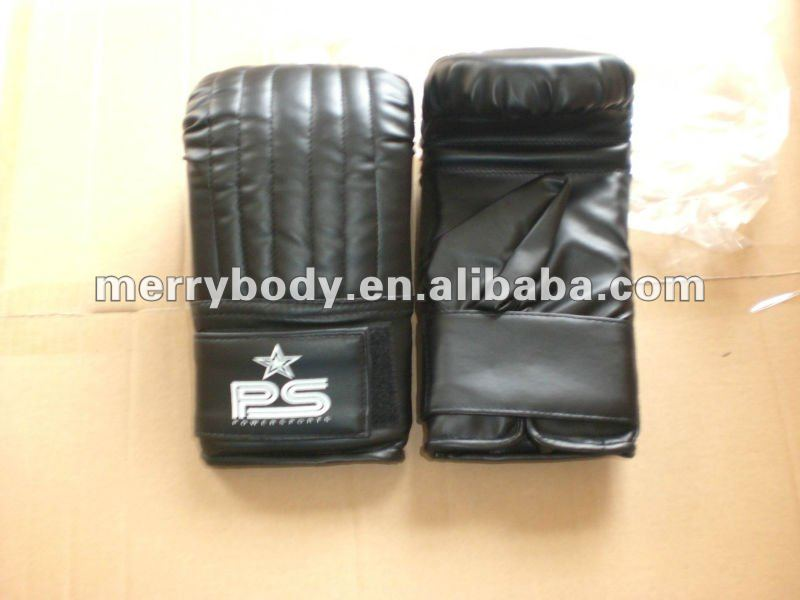 High quality PU leather boxing sandbag gloves/ boxing heavy bag gloves