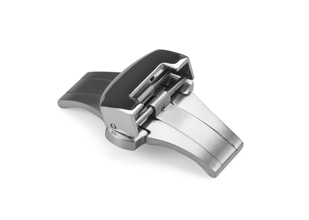 22mm brushed slive folded buckle stainless steel deployment clasp watch buckle