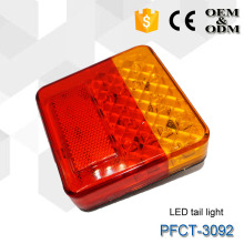Submersible ECE 4 inch Square LED Tail Lamp with License Plate Light for Truck Boat Trailer Vans Ute