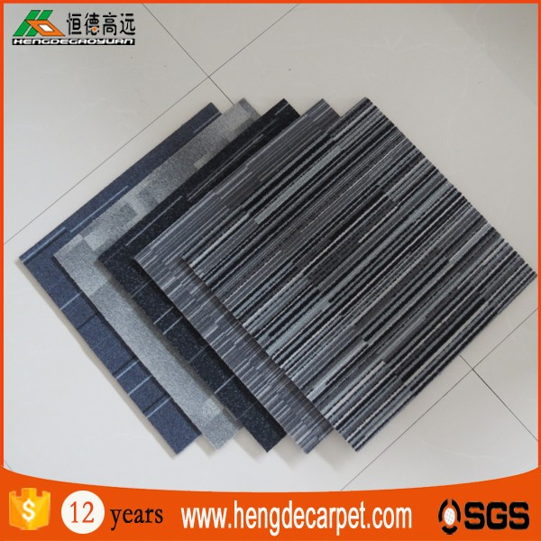 Commercial nylon anti-slip flooring wall to wall carpet tile for hotel