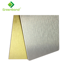Greenbond high admiration decorative fire-resistant interior and exterior wall aluminum acp panel design material