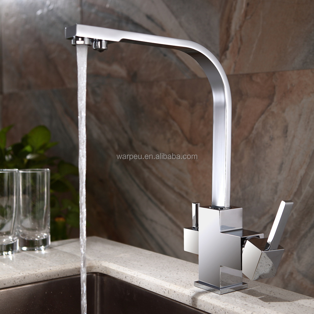 Luxury Style Dual Handle Yuyao Qili 3 Way Kitchen Faucet