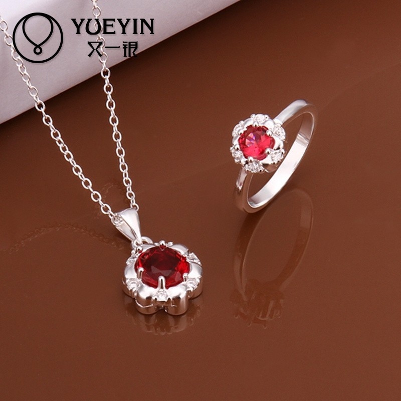 Fashion Hot <strong>Sale</strong> 2 Pieces Ruby Jewelry Wholesale Jewellery