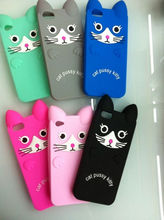 Silicone animal shaped phone cases for iphone 4 4s 5g