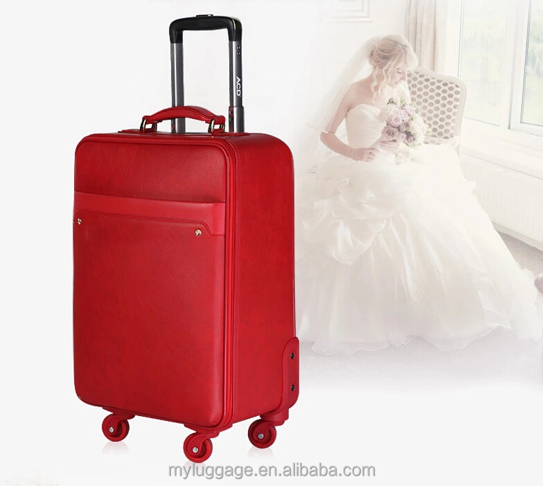 Sympathy ladies fashion trolly bags luggage parts expandable on wheels