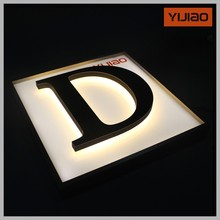 company sign logo with splendid illumination for letters