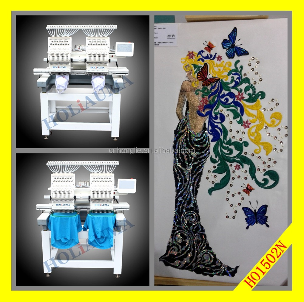 Hot sale 2 head embroidery machine for cap garment computerized embroidery