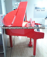 Digital Piano 88 keys Red Polish Digital Baby Grand Piano HUANGMA HD-W120 crystal piano music box