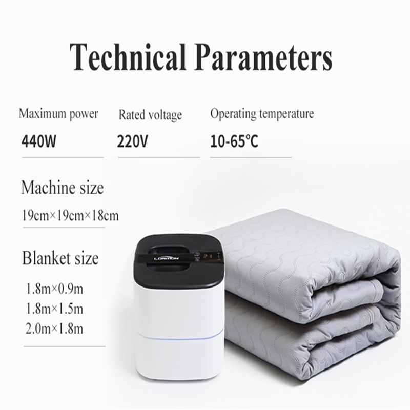 Lonmon Grey PVC tube 110v/220v water heating blanket electric heating mattress - Jozy Mattress | Jozy.net