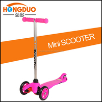 kids toys plastic scooter with PU lflashing wheel