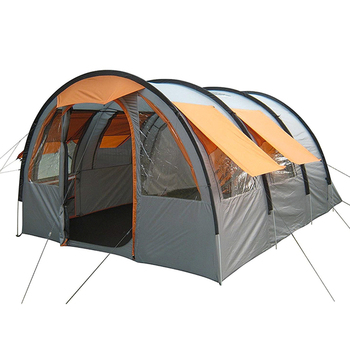 Best selling outdoor tunnel tent waterproof 4 person big family camping tent