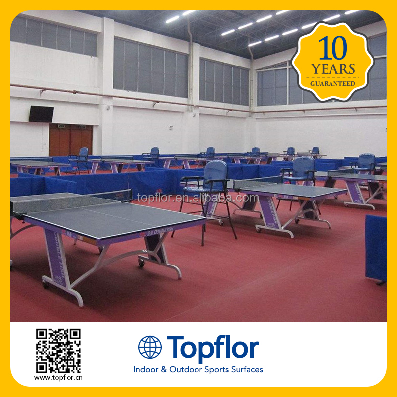 Topflor Chinese Equipment 4.5mm Table tenis Court Sports Surface