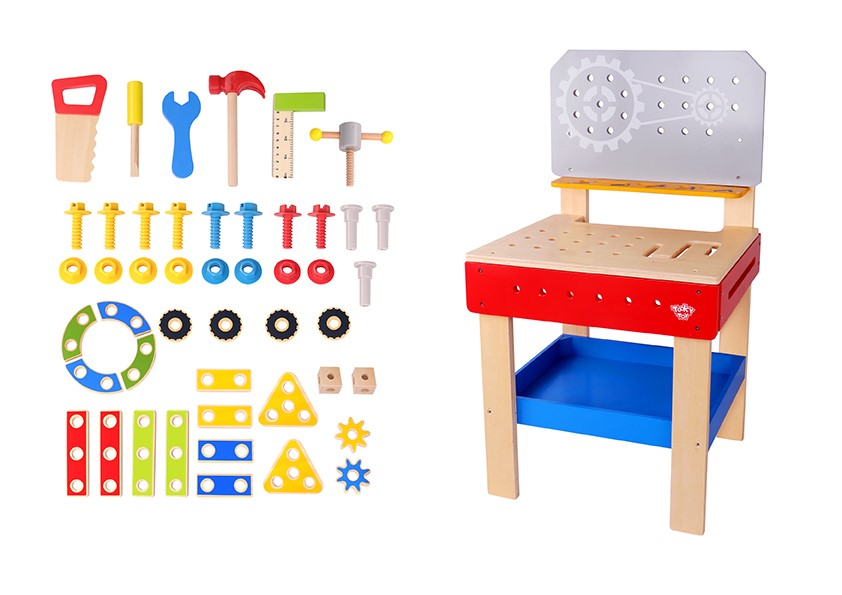 Kids Popular Wooden Playing Table Big Work Bench