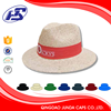 soft plain 3D embroidery solar powered straw hat