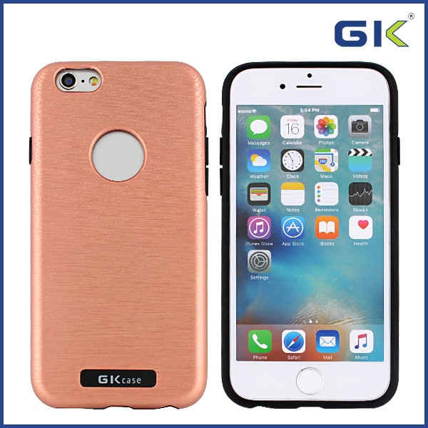 [GGIT] Fashion Fake Metal Wire Drawing 2 in 1 TPU+PC Combo Case For IPhone 6 Cover