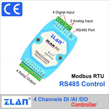 ZLAN6002 RS485 modbus RTU i/o module Digital input output Analog Remote Control switch