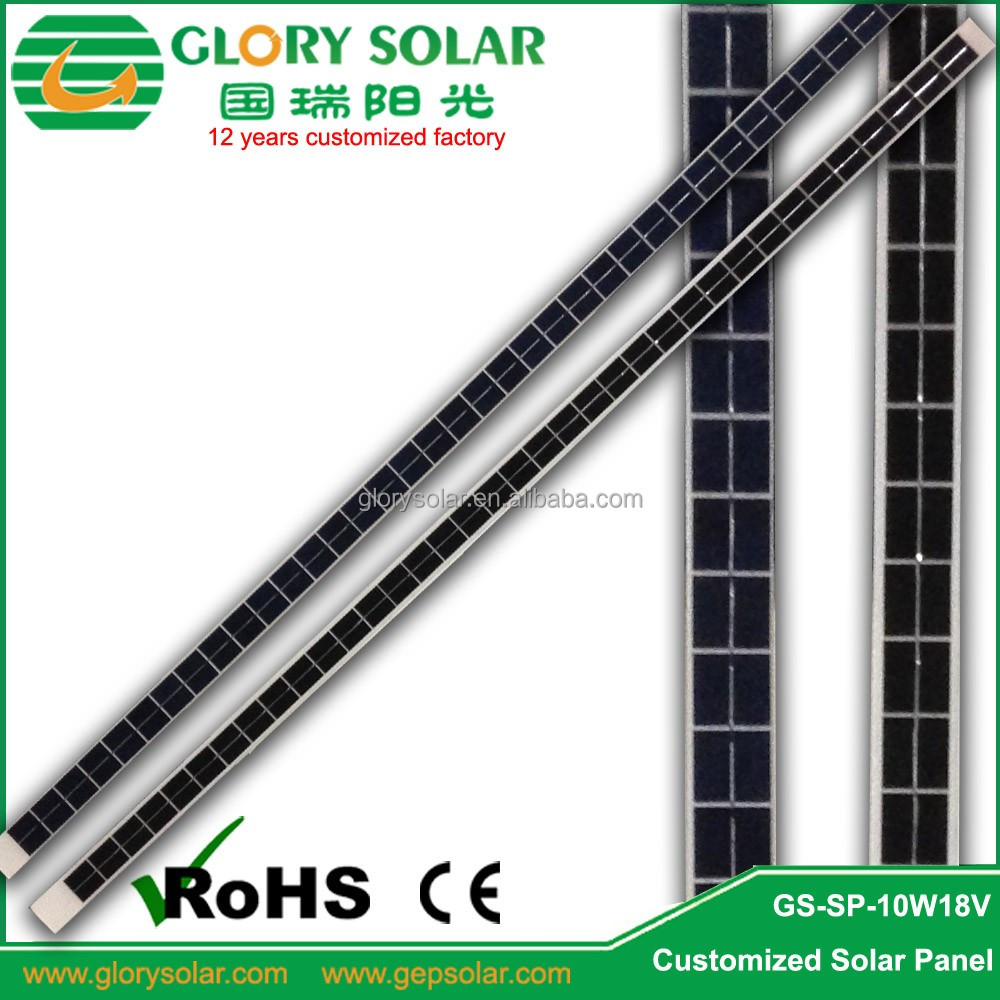 10W 18V Strap Chinese Custom Solar Panels Mono Price Install In Heating Thermal Vacuum Tube To Charge 12V Battery