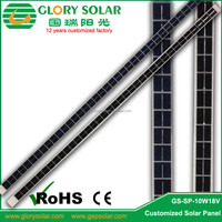 10W 18V Strap Chinese Solar Panels Mono Price Install In Heating Thermal Vacuum Tube To Charge 12V Battery