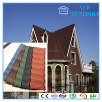 New Sunlight Colour Stone Coated Metal Roofing Tiles