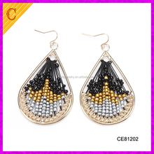 CE81202 wholesale new design fashion trending high quality seed beads jewelry traditional jadau earrings