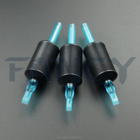 1'' Economy Plastic Grip Disposable Tattoo Tube - Flat Tips
