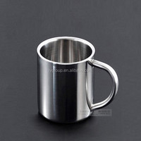 Pass Food Grade Durable Stainless Steel Coffee Mugs Cappuccino Cups Tea Cup/ 8 OZ Double Wall stainless steel insulated beer mug