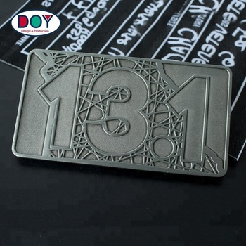 Factory Price Precious Custom Rectangle Double Sides Die Stamping Metal Coins For Gift