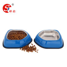 arrow shape skid stop basic pet bowl dog cat feeder