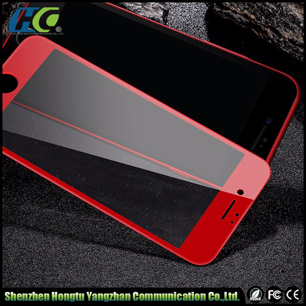 New China red tempered glass screen 3D full cover edge screen protector for IPhone