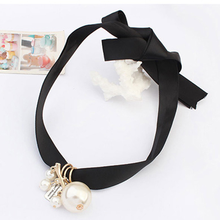 Jewelry 2015 Hot Sale Promotion Chains Necklaces Jewelry Pendants Korea Korean Sweet Lady Pearl Simple Rope Necklace